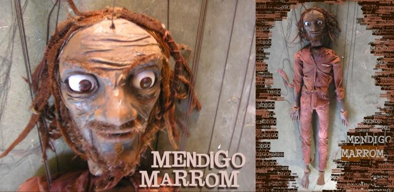 boneco gigante mendigo marrom