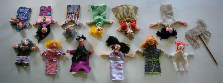 Oficina Teatro de Bonecos Indigena _ Aldeia Caieiras Vieiras _ Tupinikin _ fantoches _ bonecos de luva