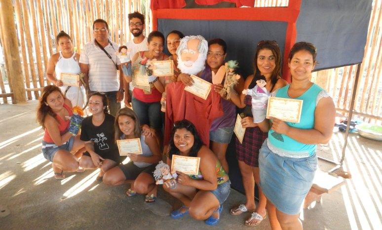 Oficina Teatro de Bonecos Indigena _ Aldeia Caieiras Vieiras _ Tupinikin