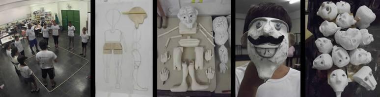 Oficina de construção de bonecos e montagem de espetaculo de teatro de animaçao