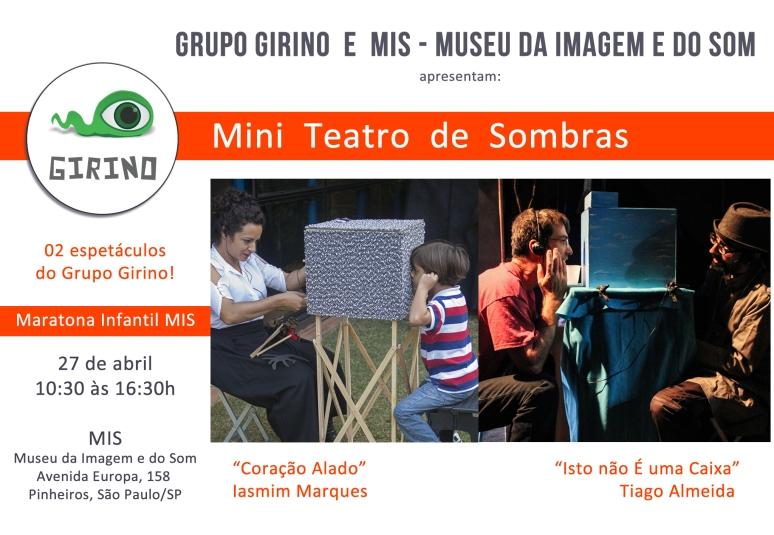 Mini Teatros de Sombras MIS - Museu da Imagem e do Som _ Grupo Girino Teatro de Animação