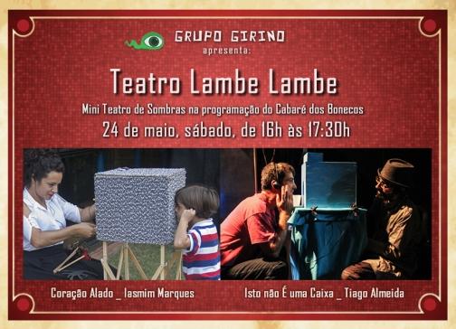 Teatro Lambe Lambe no Cabaré dos Bonecos