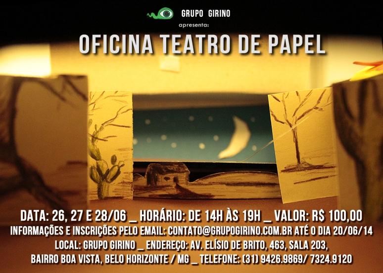 Oficina Teatro de Papel _ Grupo Girino Teatro de Animação