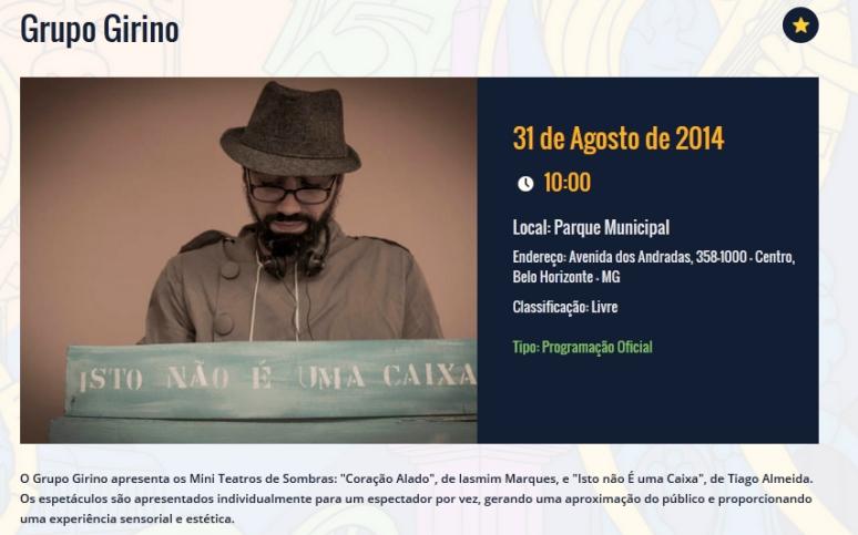 Mini Teatro de Sombras na Virada Cultural de BH