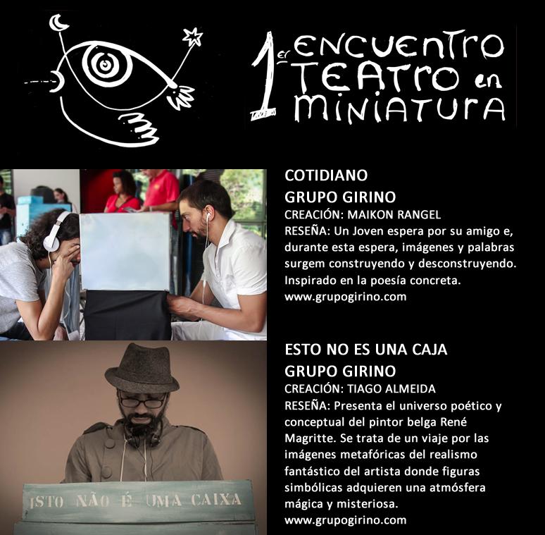 Mini Teatro de Sombras _ Grupo Girino _ Encuentro Teatro en Miniatura Avellaneda _ Argentina